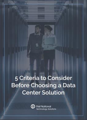 Choosing a Data Center Solution