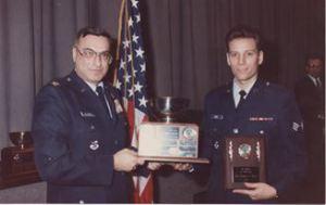 Dan Kurtz awarded Airman of the Year for War Planning, 1991